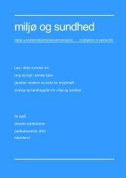miljø og sundhed nr. 22, september 2003 (PDF 1,24MB)