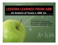 lessons learned from abb lessons learned from abb - Withum