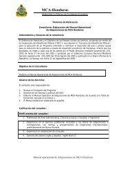 MCA-Honduras - Cuenta del Milenio - Honduras