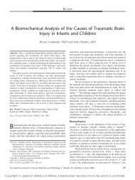 A Biomechanical Analysis of the Causes of Traumatic ... - NACDL