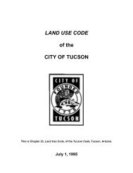 LAND USE CODE of the CITY OF TUCSON