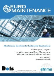Maintenance Excellence for Sustainable Development