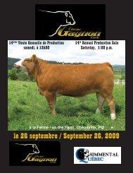 le 26 septembre / September 26, 2009 - Transcon Livestock ...