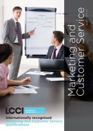 Marketing & Customer Service - LCCI International Qualifications