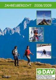 Jahresbericht 2008/2009 - Sektion Rosenheim