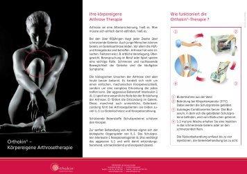 Orthokin® – Körpereigene Arthrosetherapie