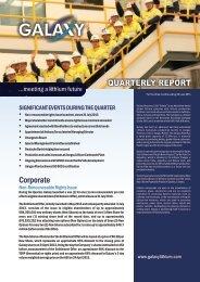 June 2013 - Galaxy Resources