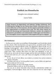 Einblick ins Himmlische - Zeitschrift für Spiritualität und ...