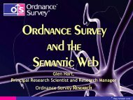 Ordnance Survey and the Semantic Web - School of Computing