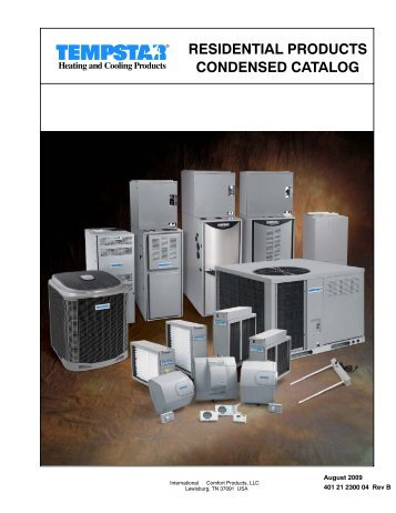 residential products condensed catalog - HVAC Sales & Supply Co ...