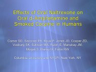 The effects of naltrexone on oral d-amphetamine and ... - THS 10