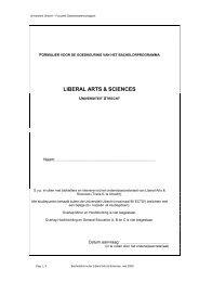 liberal arts & sciences - Liberal Arts and Sciences - Universiteit Utrecht