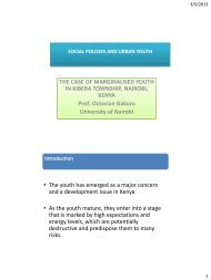 Social Policies and Urban Youth - UNU-ISP