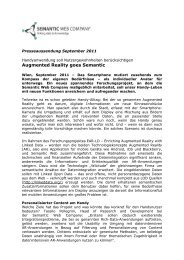 30.09.2011 Presseinformation Augmented Reality goes Semantic