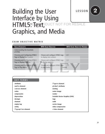 Building the User Interface by Using HTML5: Text, Graphics ... - server