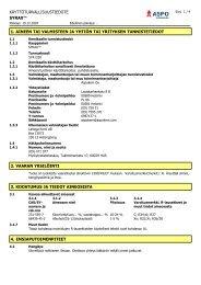 käyttöturvallisuustiedote syrax™ 1. aineen tai valmisteen ja yhtiön ...