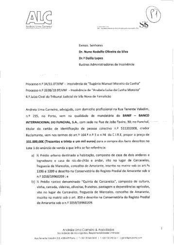 Proposta recepcionada - Nuno Oliveira da Silva