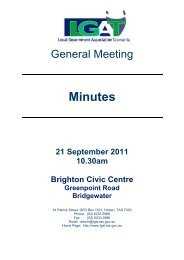 General Meeting Minutes – 21 September 2011 - Local Government ...