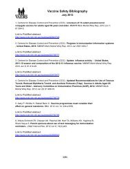 Vaccine Safety Bibliography - Vaccine Adverse Event Reporting ...
