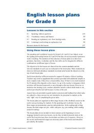 English lesson plans for Grade 8