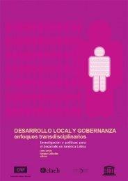 Desarrollo local y gobernanza. Enfoques transdisciplinarios - Unión ...
