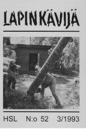 HSL N:o 52 3/1993 - Helsingin Seudun Lapinkävijät ry