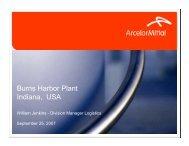 Burns Harbor Plant Indiana, USA - Indiana Logistics