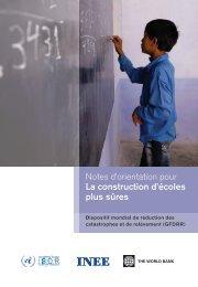 Notes d'orientation pour La construction d'écoles plus ... - INEE Toolkit