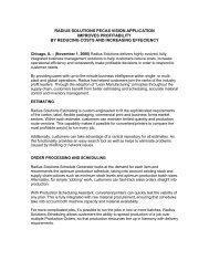 Radius Solutions PECAS Vision Application Improves Profitability by ...