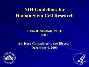 NIH Guidelines for Human Stem Cell Research (PDF – 151KB)