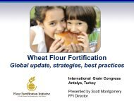 Wheat Flour Fortification