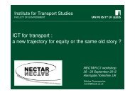 ICT for transport: a new trajectory for equality or the same old story?