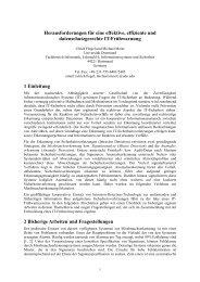 Herausforderungen für eine effektive, effiziente und ...