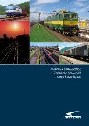 Výročná správa 2006 - ZSSK Cargo