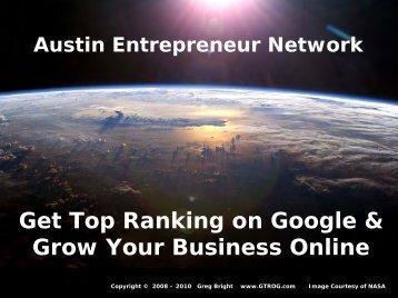 Austin Entrepreneur Network SEO Slides - SEO - Search Engine ...