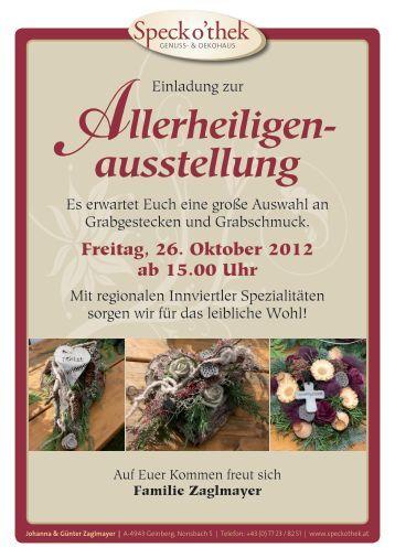 Flyer Allerheiligen- & Adventausstellung (508 KB) - .PDF - Geinberg