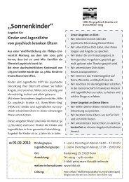 """""""Sonnenkinder"""" - Hilfe für psychisch Kranke e. V. Bonn/Rhein-Sieg"""
