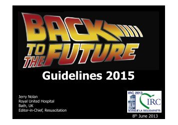 Guidelines 2015 - I.R.C. Italian Resuscitation Council