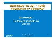 Indicateurs en LST : outils d'évaluation et d'évolution