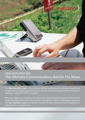 Nera WorldPro 1000 Data Sheet - Stratos Global Corporation