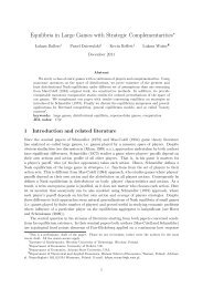 Equilibria in Large Games with Strategic Complementarities