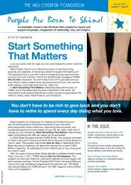 Start Something That Matters - Naji Cherfan Foundation