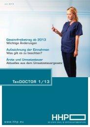 TaxDOCTOR 1/13 - HHP - Hammerschmied Hohenegger und Partner