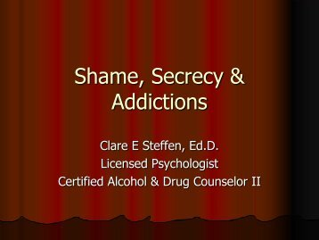 Shame, Secrecy & Addictions - Lane County Public Health ...