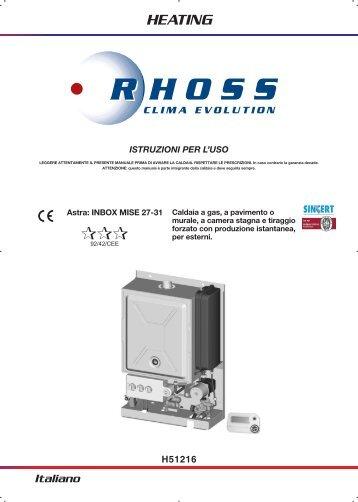 H51216-v07 Manuale Istr. per l'uso Astra Inbox MISE 27 ... - Rhoss