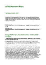 BUND-Konstanz News Tätigkeitsbericht 2012