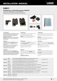 InstallatIon · Manual 9.9011 1/4 - Wibre