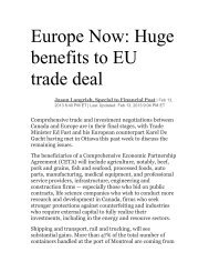 Europe Now: Huge benefits to EU trade deal - CERT - Canada ...