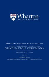 Download the MBA for Executives 2013 Graduation Program