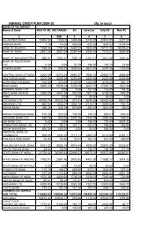 ANNUAL CREDIT PLAN 2009-10